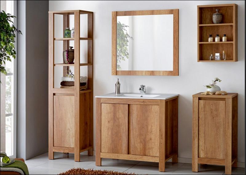 CLASSIC OAK komplett fürdőszoba bútor, tölgy színű