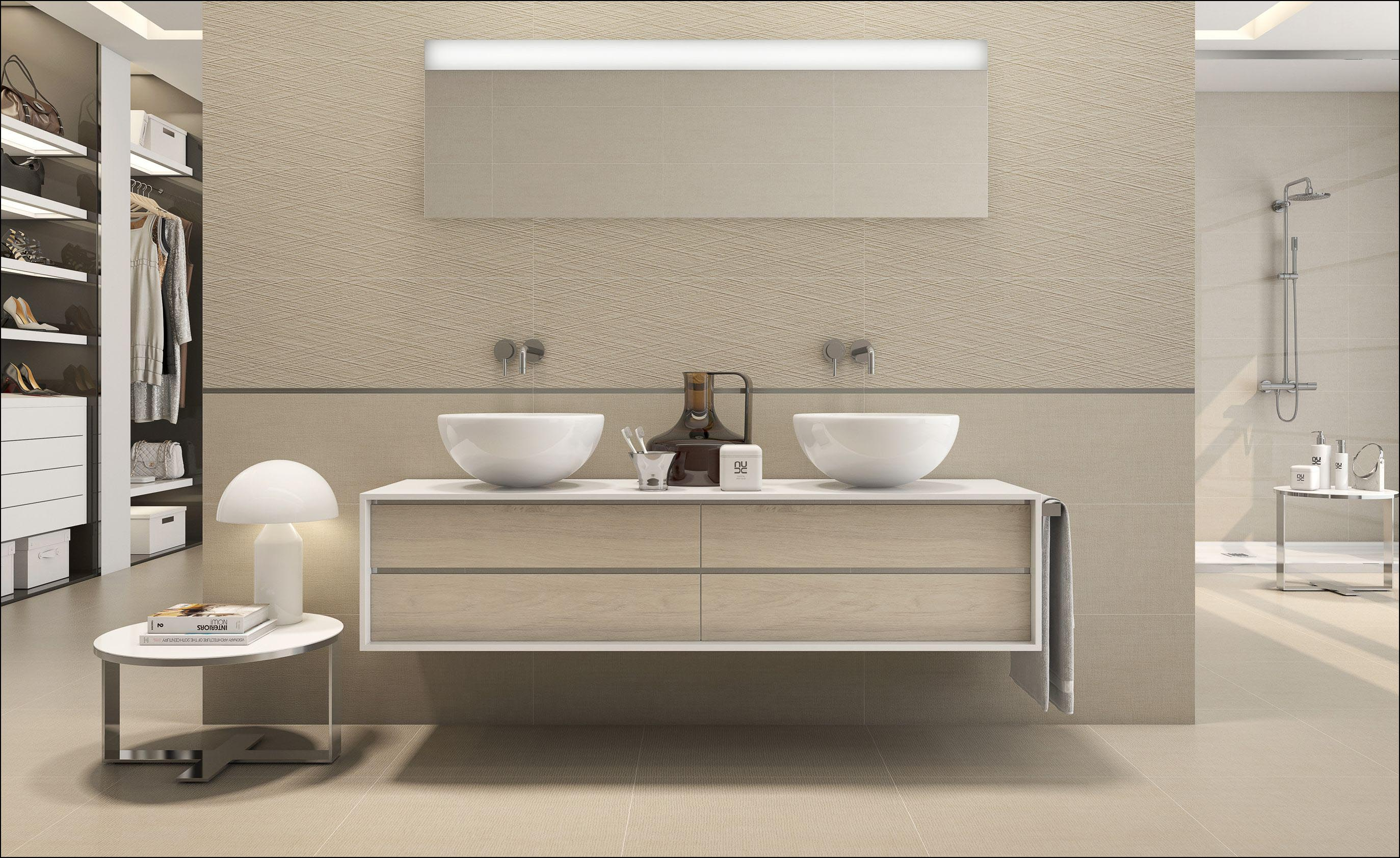 Dupla mosdószekrény két különálló mosdóval