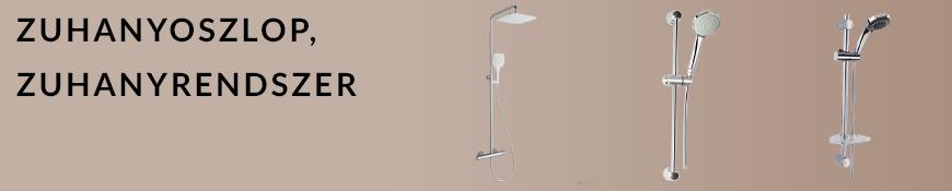 Zuhanyoszlop, zuhanyrendszer