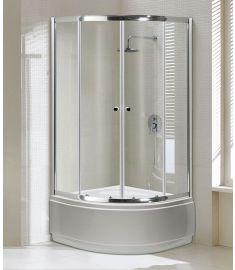 Niagara Wellness ALOR íves zuhanykabin, átlátszó/króm, 90x90x150 cm 399-296