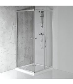 AQUALINE AGGA zuhanykabin, 90x90x185 cm, transzparent üveg/alu profil HLF909