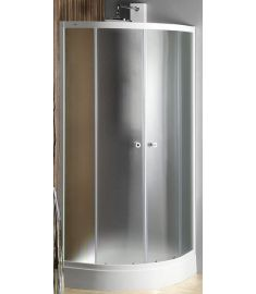 AQUALINE ARLEN Íves zuhanykabin, 80X80x185 cm, BRICK üveg, fehér profil BTR800