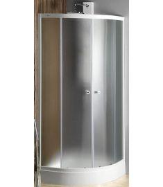 AQUALINE ARLEN Íves zuhanykabin, 90x90x185 cm, BRICK üveg, fehér profil BTR900
