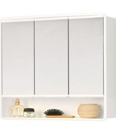 AQUALINE LYMO tükrös fürdőszoba szekrény 59x54x17,5 cm, fehér, 84132