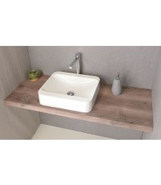 Sapho AVICE mosdópult 80x50 cm, rusztikus dió AV083