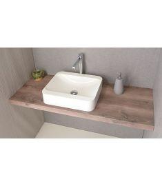 Sapho AVICE mosdópult 90x50 cm, rusztikus dió AV093