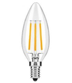 Avide FILAMENT CANDLE retro LED izzó, E14, 4W, meleg fehér fényű ABLFC14WW-4W