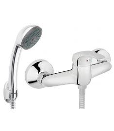 Ferro BASIC fali zuhany csaptelep, zuhanyszettel, króm BBC77