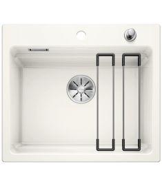 Blanco ETAGON 6 kerámia mosogató, ETAGON sínnel, dugókiemelővel, 58.4x51x22 cm, fényes fehér 525156