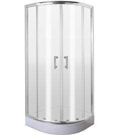 Deante JASMIN íves zuhanykabin 90x90x185 cm, átlátszó üveg, króm keret KGJ051P