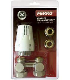 """Ferro Univerzális termosztát szett, 1/2"""", egyenes ZTV01"""