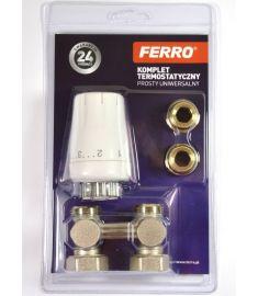 """Ferro Univerzális termosztát szett, 1/2"""", egyenes ZTV07"""