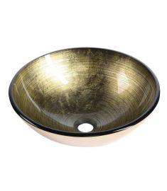 Sapho FIANNA üveg mosdó, átmérő 42 cm, bronz 2501-21