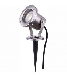 GLOBO STYLE kerti lámpa, földbe szúrható, inox, 1xGU10, 32075
