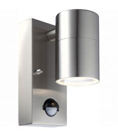 GLOBO STYLE kültéri fali lámpa, mozgásérzékelős, inox, 1 db GU10 LED izzó, 3201SL