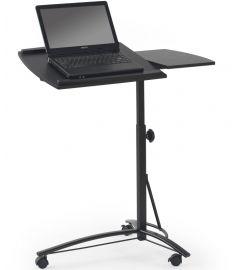 B-14 laptop asztal, állítható magasságú, görgős, fekete színű, 73x40x63-93 cm HM0846