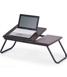 B-19 laptop asztal, sötét dió/fekete színű, 60x34x23 cm HM0849