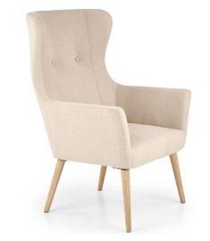 COTTO fotel, fa lábakkal, bézs színű, 73x76x99x43 cm, HM1561