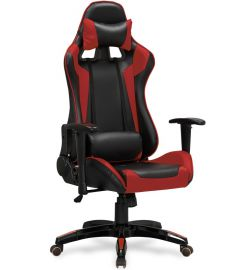 DEFENDER gamer szék, TILT, állítható karfa, fekete/piros, 55x69x126-134x46-54 cm HM0875
