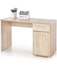 LIMA 1 fiókos, 1 ajtós íróasztal, sonoma tölgy színű, 120x55x75 cm, HM1459