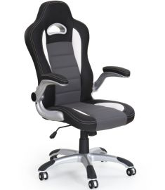 LOTUS gamer szék, TILT mech., állítható karfa, fekete/szürke, 63x65x117-127x47-57 cm HM0899