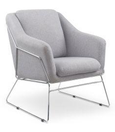 SOFT fotel, szürke/króm színű, 69x76x81 cm HM0678