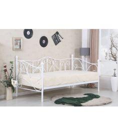SUMATRA 90 ágy, matrac nélkül, ágyráccsal, fehér, 99x210x89 cm HM0599