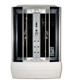 Sanimix kádas hidromasszázs zuhanykabin, 85x150x215 cm, elektronikával, fekete hátfal 22.8011-150