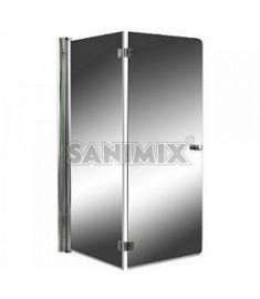 Sanimix kétrészes víztiszta kádparaván, 122x140 cm, biztonsági üveg 22.6060.5