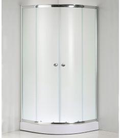 Niagara Wellness LOTUS FROST íves zuhanykabin, 90x90x190 cm, mintás/króm 399-293
