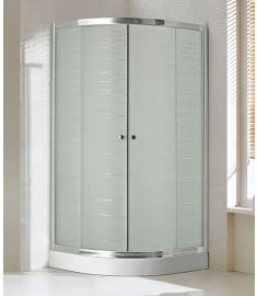 Niagara Wellness LOTUS WAVE íves zuhanykabin, 90x90x190 cm, mintás/króm 399-290