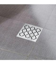 Ravak padlóösszefolyó 105x105/50 - rozsdamentes acél rács X01435
