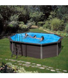 PONTAQUA ovális kompozit medence, 804x386x124 cm, homokszűrős vízforgatóval FFA 917