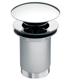 """Ferro ROTONDO click-clack lefolyószelep, túlfolyós mosdóhoz G5/4"""", króm S285"""