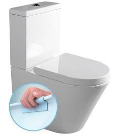 Sapho PACO Monoblokkos WC, RIMLESS, alsó/hátsó kifolyású, tartállyal, ülőkével PC1012R