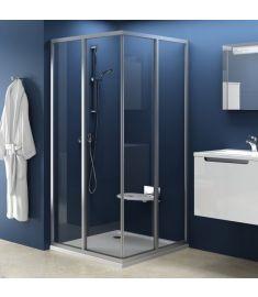Ravak SUPERNOVA SRV2-75 S zuhanykabin tolóajtó, 75x185, fehér keret/Trasparent edzett üveg 14V30102Z1
