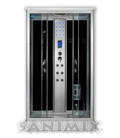 Sanimix szögletes hidromasszázs zuhanykabin, 120x80x215 cm, elektronikával 22.8707