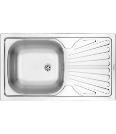 Deante TECHNO egymedencés mosogató csepegtetővel, rozsdamentes, 76x43.5x15 cm, szatén hatású ZMU0110