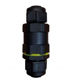 Viokef 3-POLE kötődoboz, vízálló, fekete, 4185500
