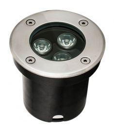 Viokef LOTUS kültéri beépíthető lámpa, kerek, d10cm, LED, 3W, ezüst/átlátszó, 4186800
