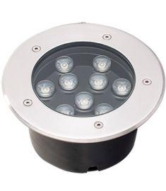 Viokef LOTUS kültéri beépíthető lámpa, kerek, d18cm, LED, 9W, ezüst/átlátszó, 4187000
