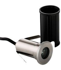 Viokef LOTUS kültéri beépíthető lámpa, kerek, d4.2cm, LED, 1W, ezüst/átlátszó, 4186700