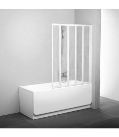 Ravak VS5 kádparaván, 5 részes, 113.5x135 cm, fehér keret/Rain plexi betétlemez 794E010041